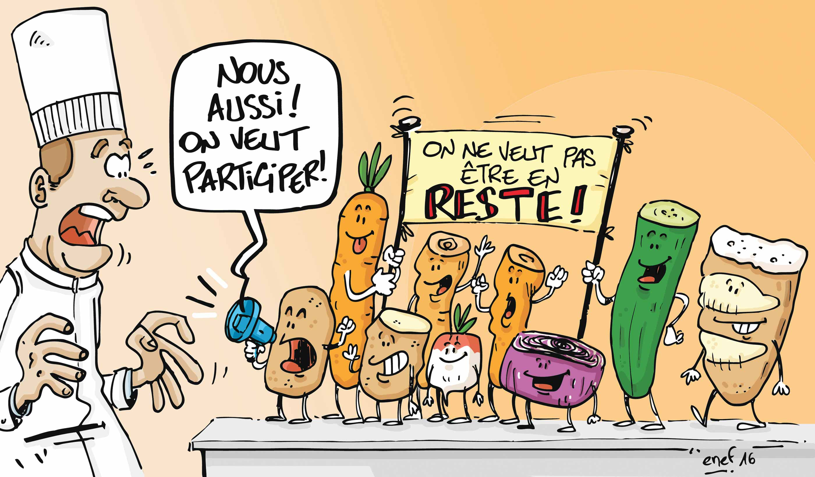 illustration gaspillage alimentaire